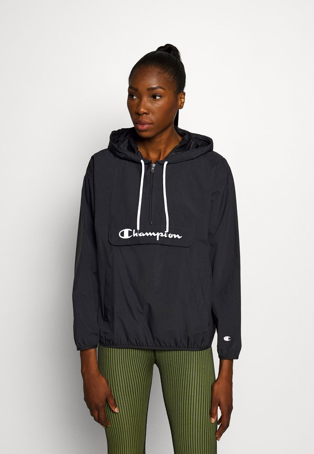 HALF ZIP - Windbreaker - black
