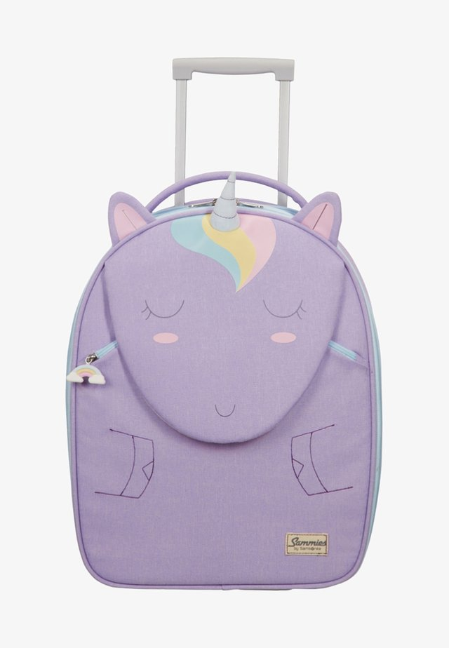 MIT 2 ROLLEN - Wheeled suitcase - purple