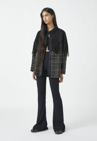 PULL&BEAR - Button-down blouse - mottled black - 1