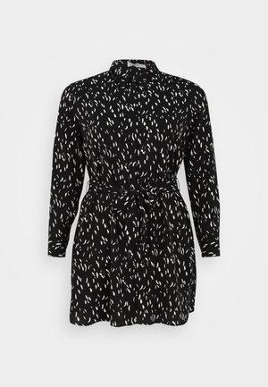 SHIRT DRESS WITH BELT - Košilové šaty - black