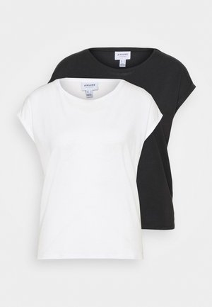 VMAVA PLAIN 2PACK - Basic T-shirt - black/snow white