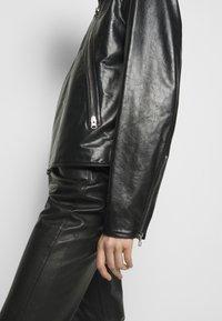 MM6 Maison Margiela - Kožená bunda - black - 5