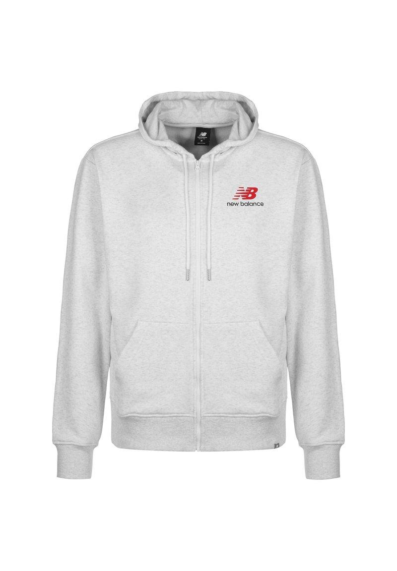 New Balance - ESSENTIALS ICON KAPUZENSWEATJACKE HERREN - Zip-up hoodie - other white
