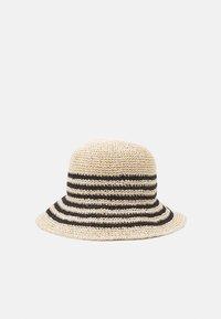 Lauren Ralph Lauren - STRIPE CROCHT BUCKET - Chapeau - natural/black - 1