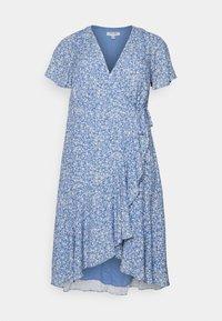 Forever New Curve - KIRI SPLIT SLEEVE WRAP DRESS - Day dress - blue - 0