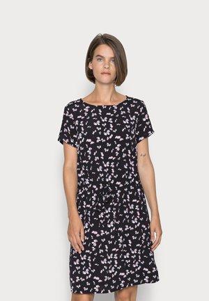 WOVEN DRESS BASIC TUNNEL - Vapaa-ajan mekko - black/lilac