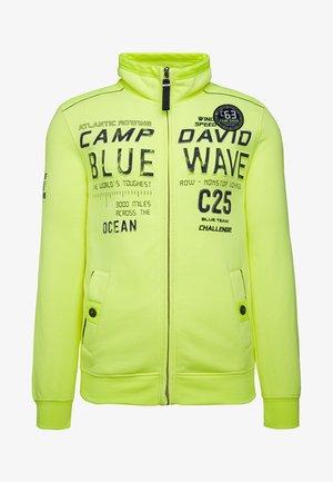 MIT PRÄGUNG  - Zip-up hoodie - neon lime