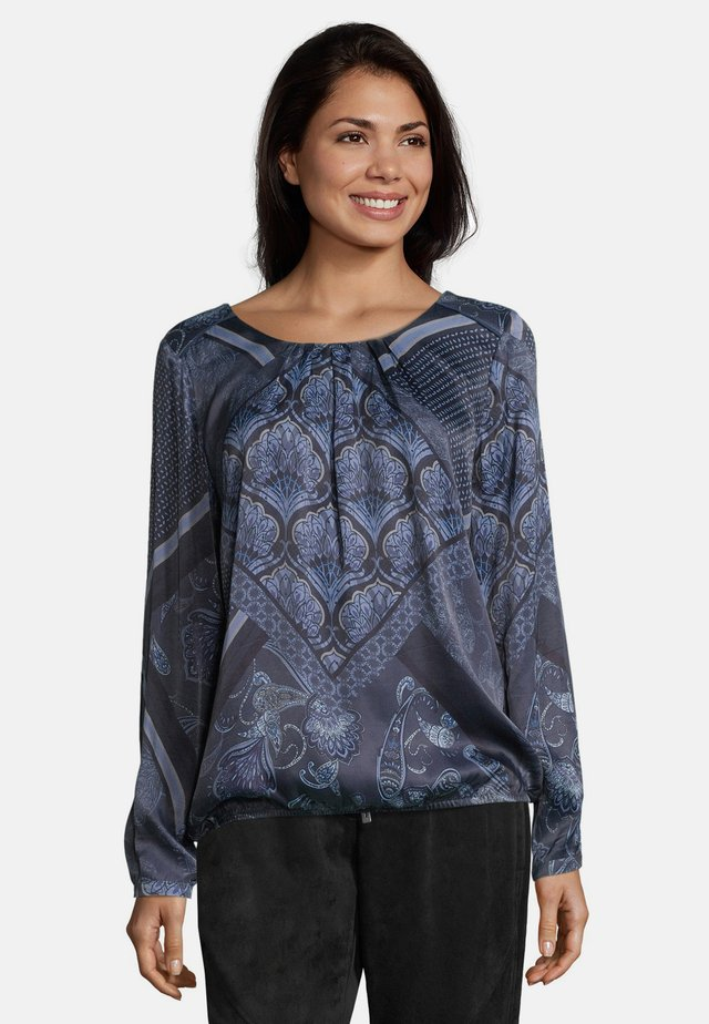 Blouse - blue/grey