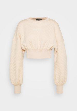QUILTED CORSET CROP - Sweatshirt - stone