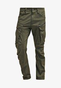 ROVIC ZIP 3D STRAIGHT TAPERED - Cargo trousers - dark bronze green