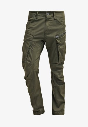 ROVIC ZIP 3D STRAIGHT TAPERED - Cargo trousers - dark bronze green