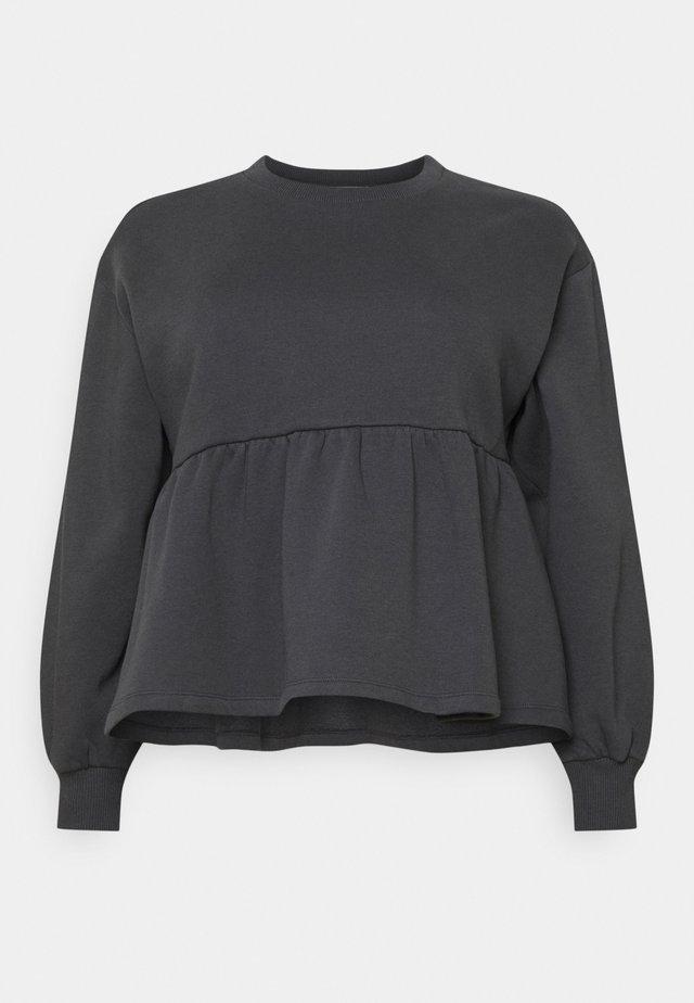 PEPLUM  - Sweatshirt - dark grey