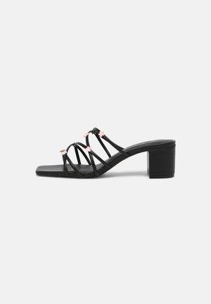 VEGAN NATALIA  - Heeled mules - black