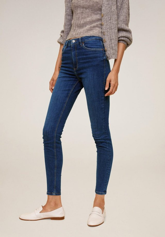 MIT HOHEM BUND NOA - Jeansy Skinny Fit - dunkelblau