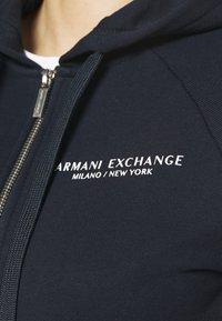 Armani Exchange - FELPA - Zip-up hoodie - navy - 4