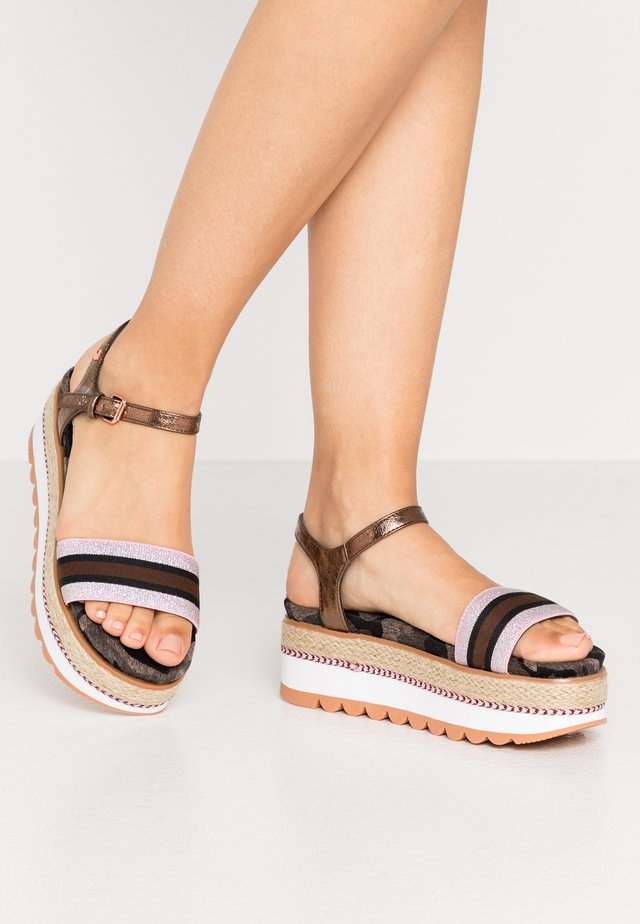 ADIGE - Platform sandals - multicolor
