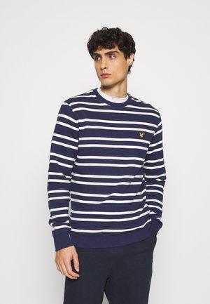 DOUBLE STRIPE - Sweatshirt - navy/ vanilla ice