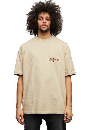 NO MORALES - T-shirt med print - beige