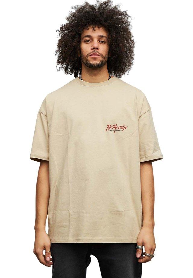 NO MORALES - T-shirt print - beige