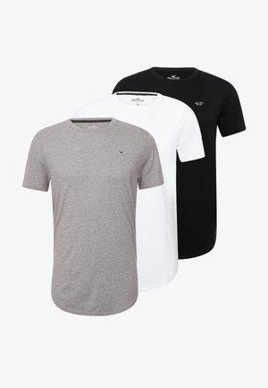 3 PACK - Jednoduché triko - white/ grey /black