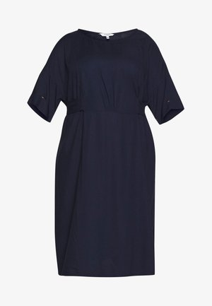 BELTED KIMONO DRESS - Denní šaty - real navy blue