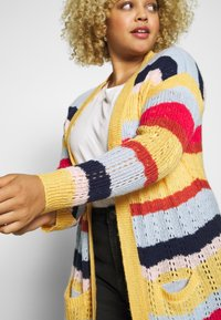 ONLY Carmakoma - CARMETA LONG - Cardigan - hot sauce/multicolour stripe - 4