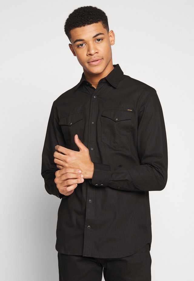 JJESHERIDAN SLIM - Shirt - black