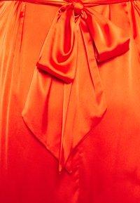Never Fully Dressed Tall - LONGSLEEVE WRAP DRESS - Vapaa-ajan mekko - tangerine - 2