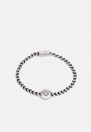 KIRA BRAIDED BRACELET - Bracciale - silver-coloured/black/new ivory