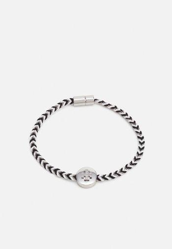 KIRA BRAIDED BRACELET - Rannekoru - silver-coloured/black/new ivory