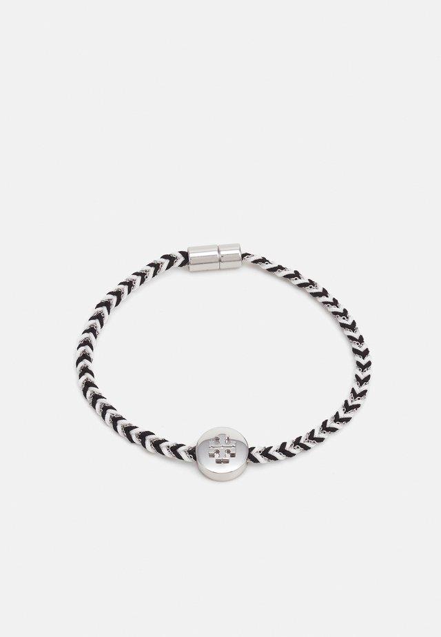 KIRA BRAIDED BRACELET - Bracelet - silver-coloured/black/new ivory