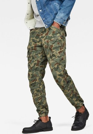 ROVIC AIRFORCE RELAXED - Pantalon cargo - sage/battle green
