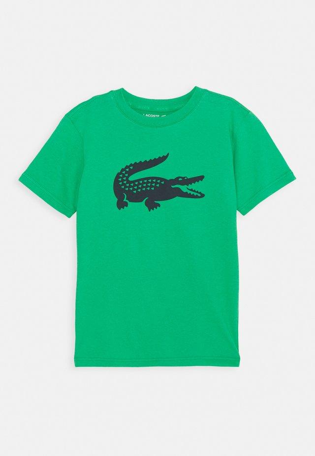 LOGO UNISEX - T-shirt z nadrukiem - palm green/navy blue