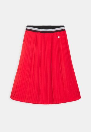 SKIRT - Falda acampanada - red