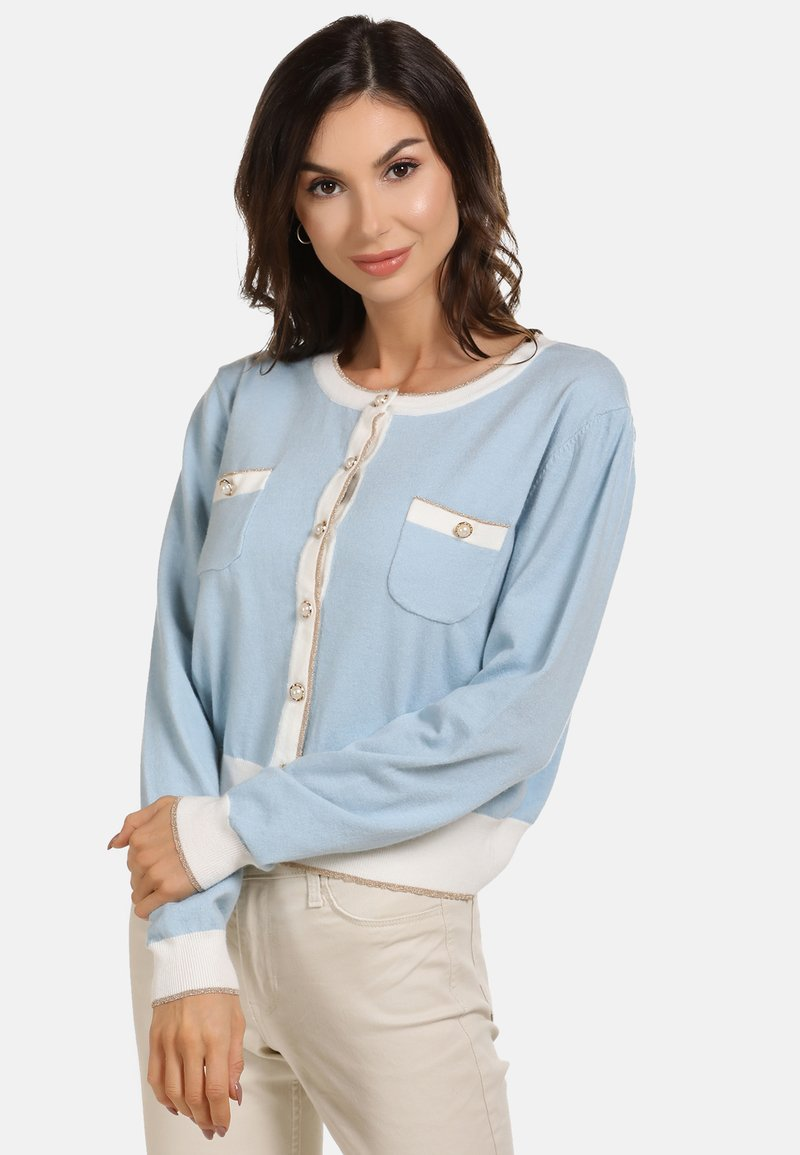faina - Cardigan - light blue