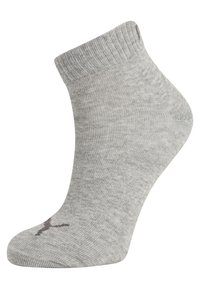 Puma - QUARTER 6 PACK - Sports socks - anthracite/light grey melange/medium grey melange - 1