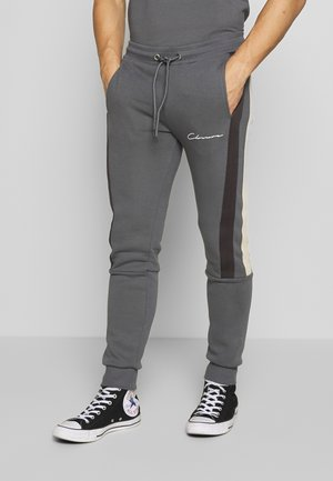 BAND STRIPE JOGGER - Tracksuit bottoms - grey