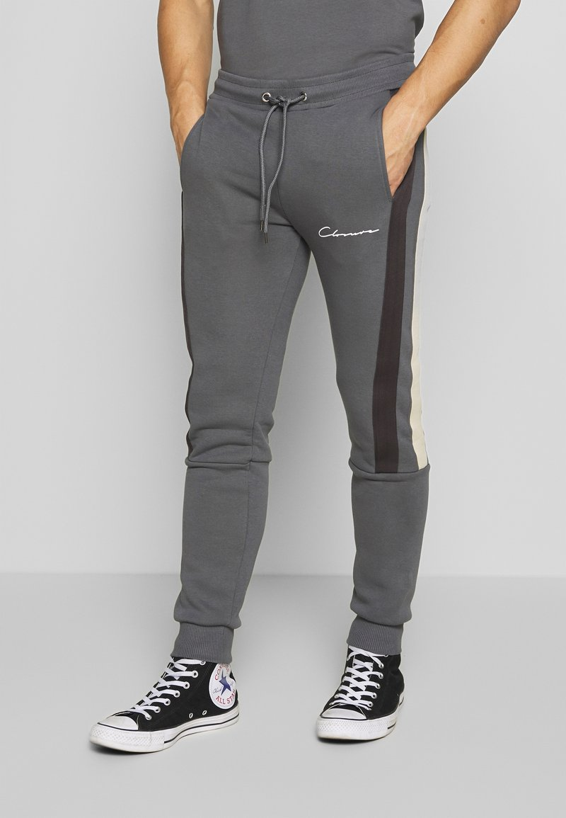 CLOSURE London - BAND STRIPE JOGGER - Tracksuit bottoms - grey