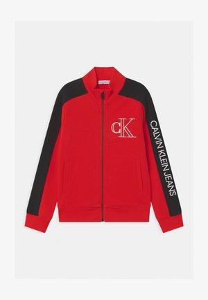 MONOGRAM BLOCK ZIP THROUGH - Zip-up hoodie - red