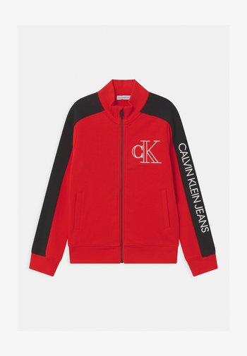 MONOGRAM BLOCK ZIP THROUGH - Sweater met rits - red
