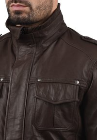 Solid - CAMASH - Leather jacket - brown - 2