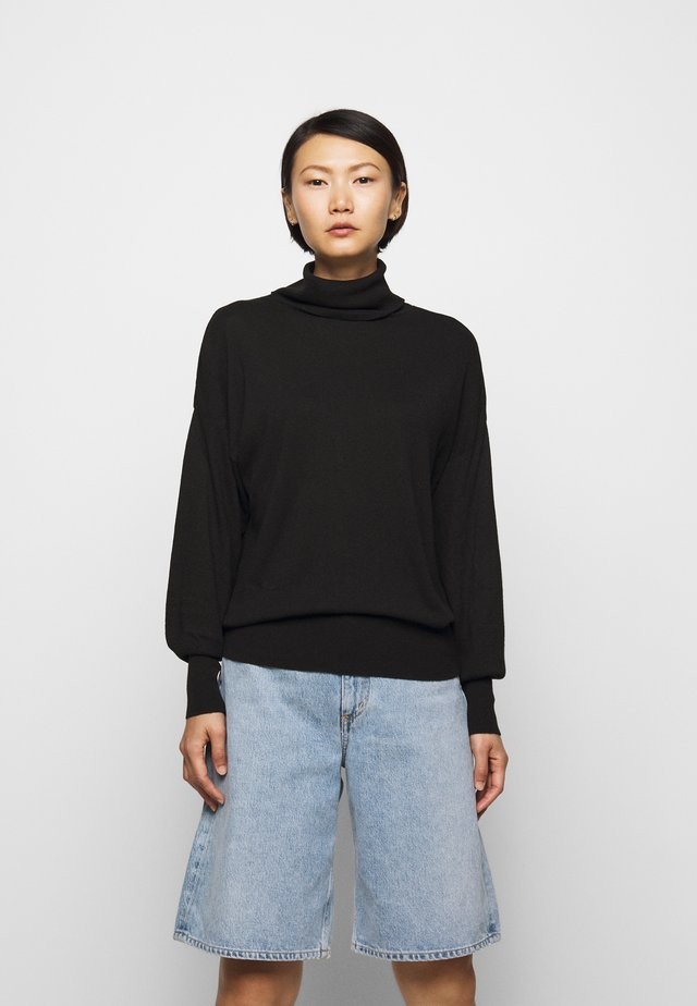 TURTLE NECK - Strickpullover - black