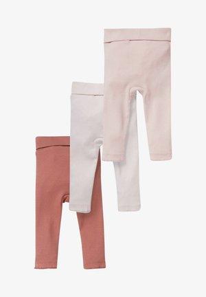 3PACK - Leggings - Trousers - rose / dark red