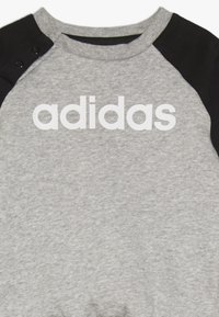 adidas Performance - ESSENTIALS LINEAR TRACKSUIT BABY SET - Træningssæt - medium grey heather/black/white - 4