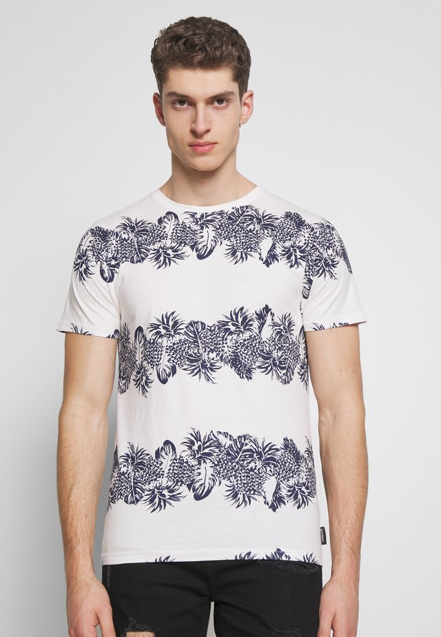 VANCE - T-shirt med print - off white