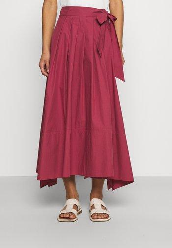 OBLARE - Plisovaná sukně - dunkelmauve