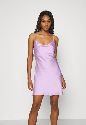 SIRI MINI COWLNECK DRESS - Cocktail dress / Party dress - orchid bloom