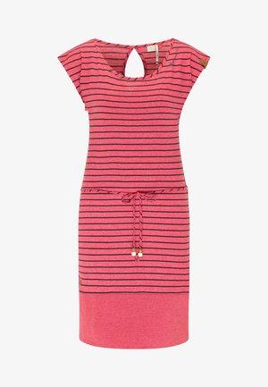 SOHO STRIPE - Jersey dress - red