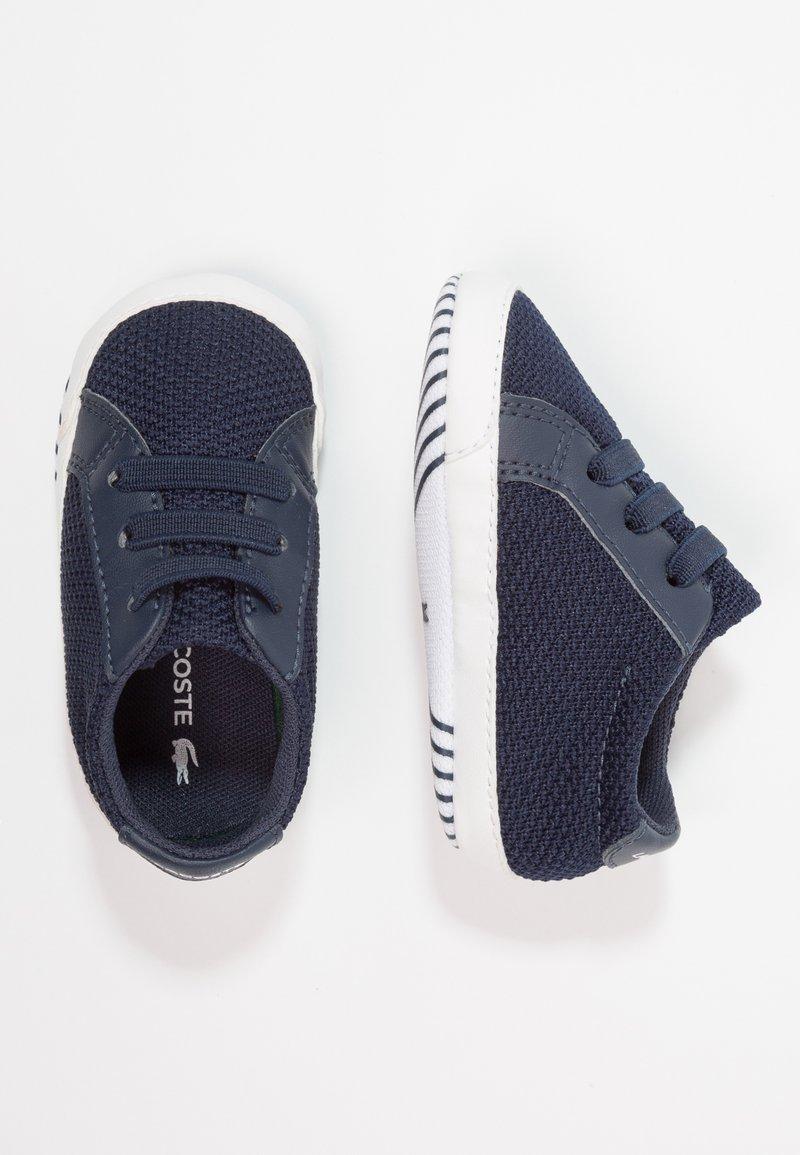 Lacoste - L.12.12 CRIB - Chaussons pour bébé - navy/white