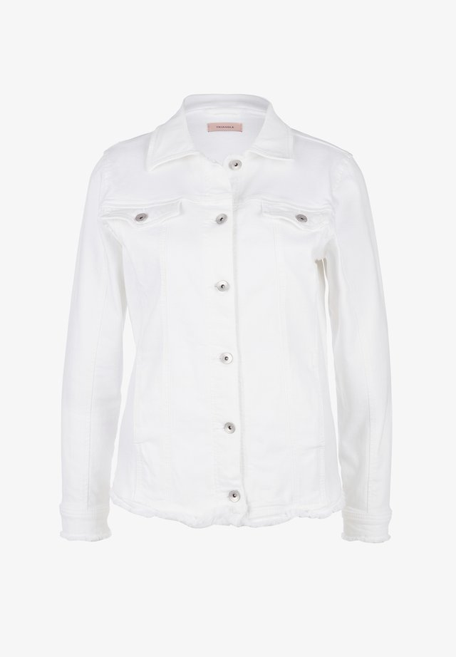 MIT FRANSENSAUM - Denim jacket - white